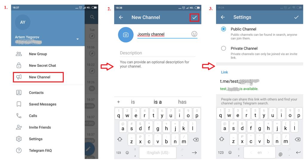 Создаем телеграм канал